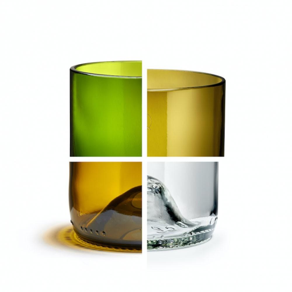 Bonte glazen (set van 4) Q de bouteilles