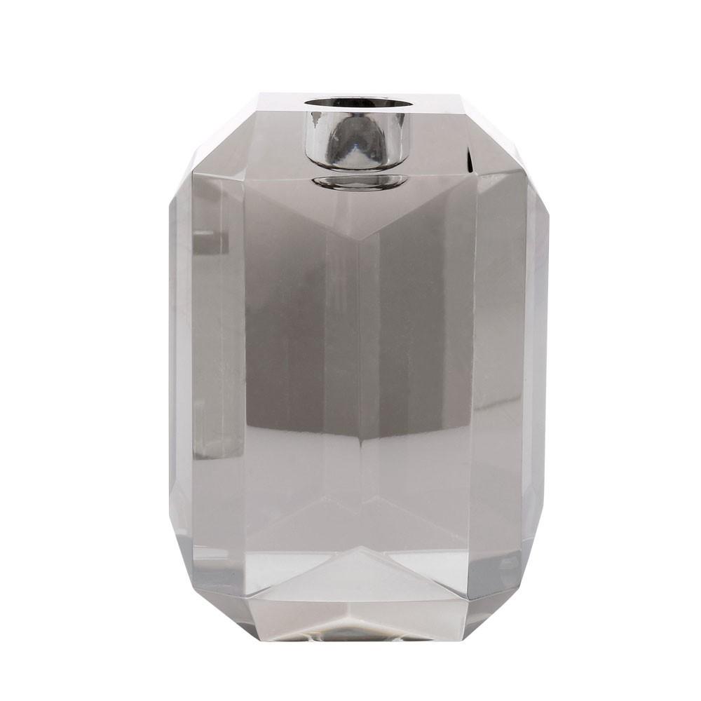 Bougeoir diamant en cristal gris HKliving