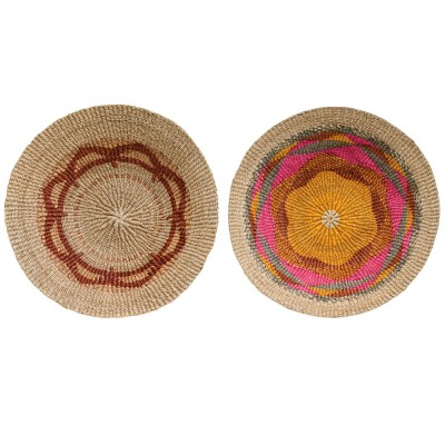 Terrain wall basket multicolor Ø60cm (set of 2)