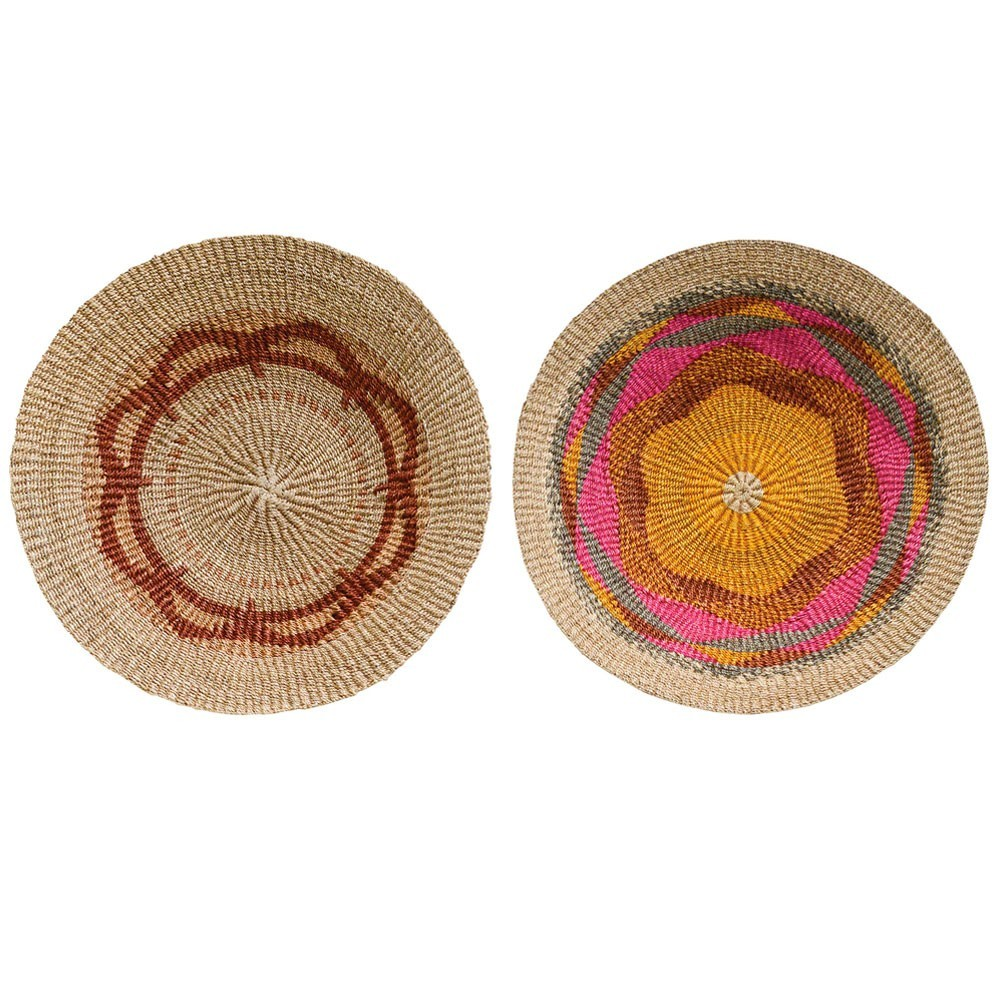 Terrain wall basket multicolor Ø60cm (set of 2) Bloomingville