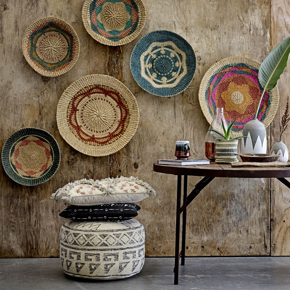 Terrain wall basket multicolor Ø45cm (set of 2) Bloomingville