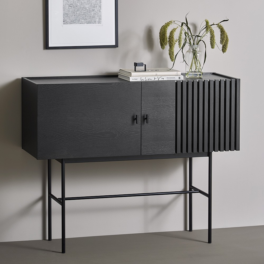 Array sideboard black 120cm Woud