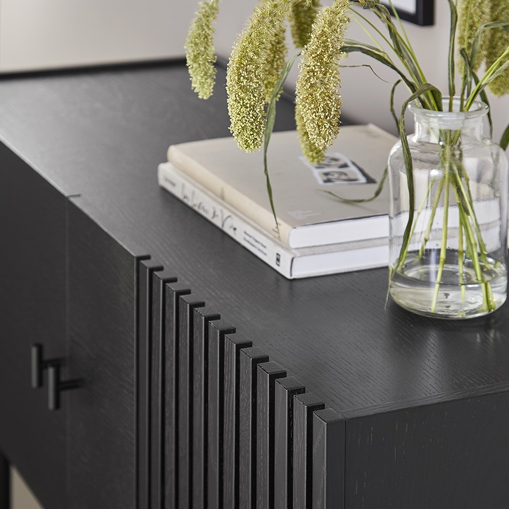 Array dressoir zwart 120cm Woud