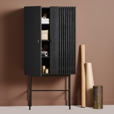 Array highboard black 80cm Woud