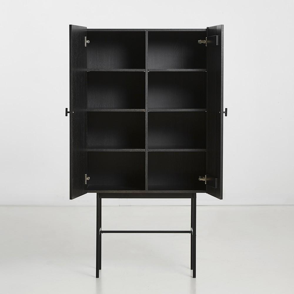 Hoog dressoir Array zwart 80cm Woud