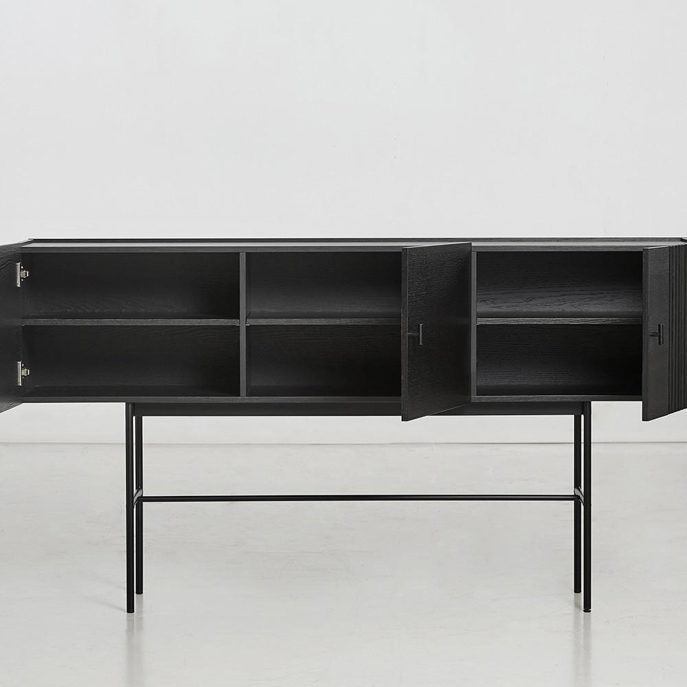 Buffet Array noir 180cm Woud
