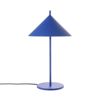 Driehoekige tafellamp in kobaltmetaal HKliving