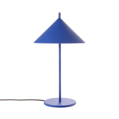 Metal triangle table lamp cobalt HKliving