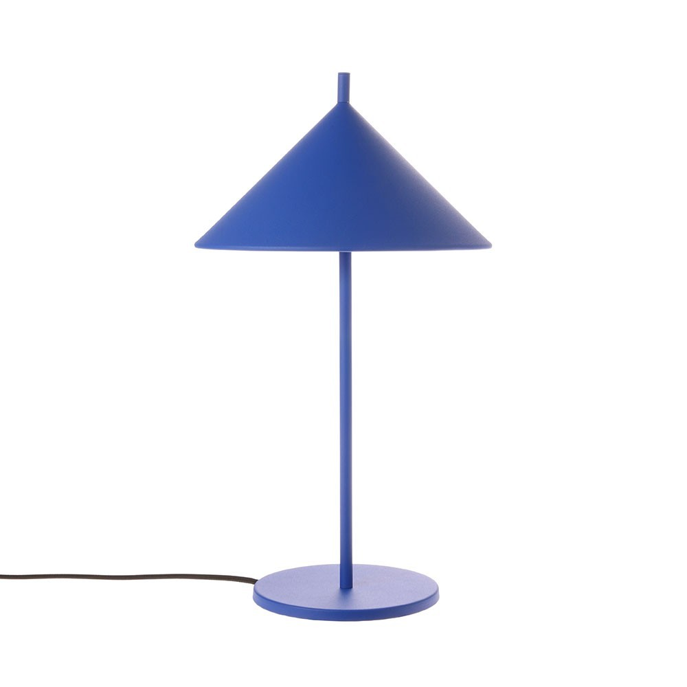 Metal triangle table lamp cobalt HKliving