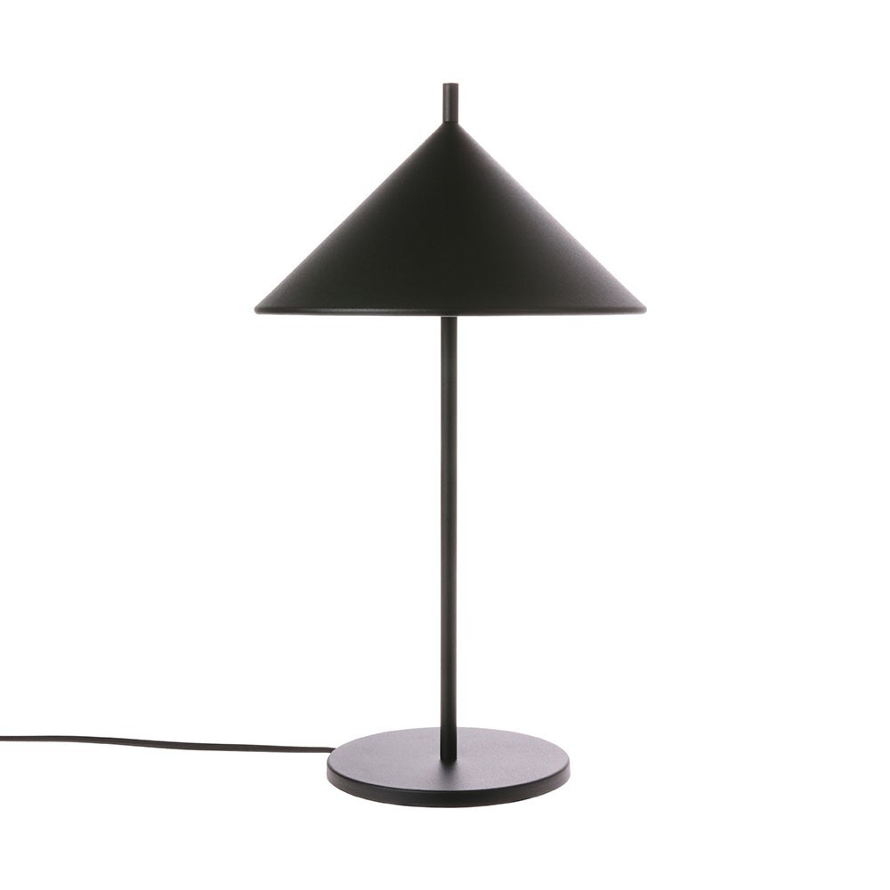 Metal triangle table lamp black HKliving