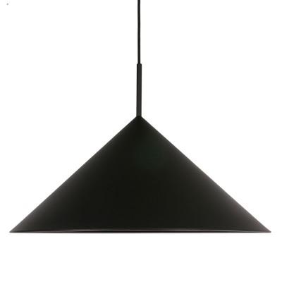 Driehoekige hanglamp van zwart metaal HKliving