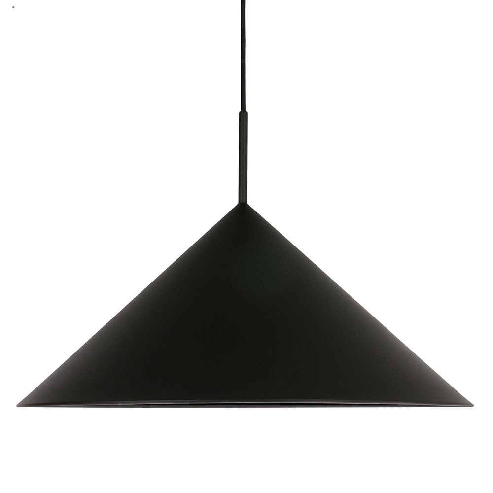 Metal triangle pendant lamp black HKliving