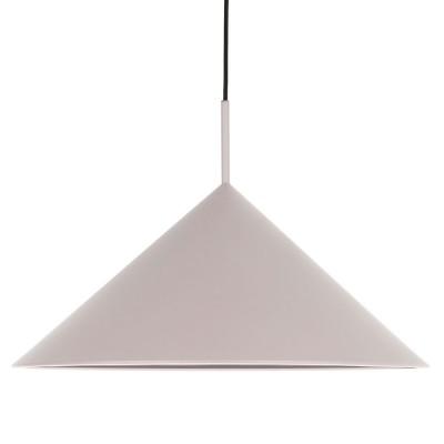 Driehoekige hanglamp van grijs metaal HKliving