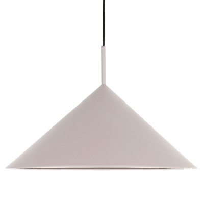 Metal triangle pendant lamp warm grey HKliving