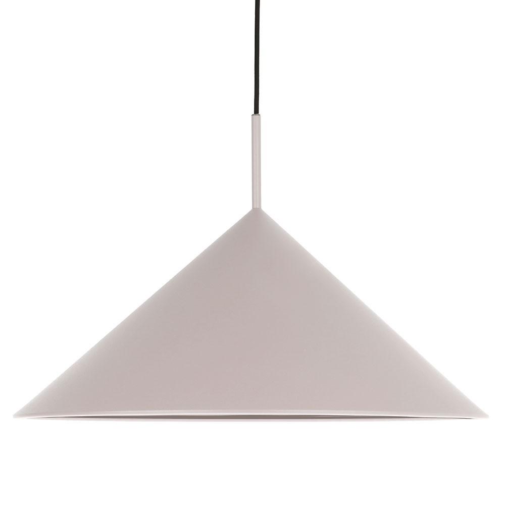 Metal triangle pendant lamp warm grey HKliving