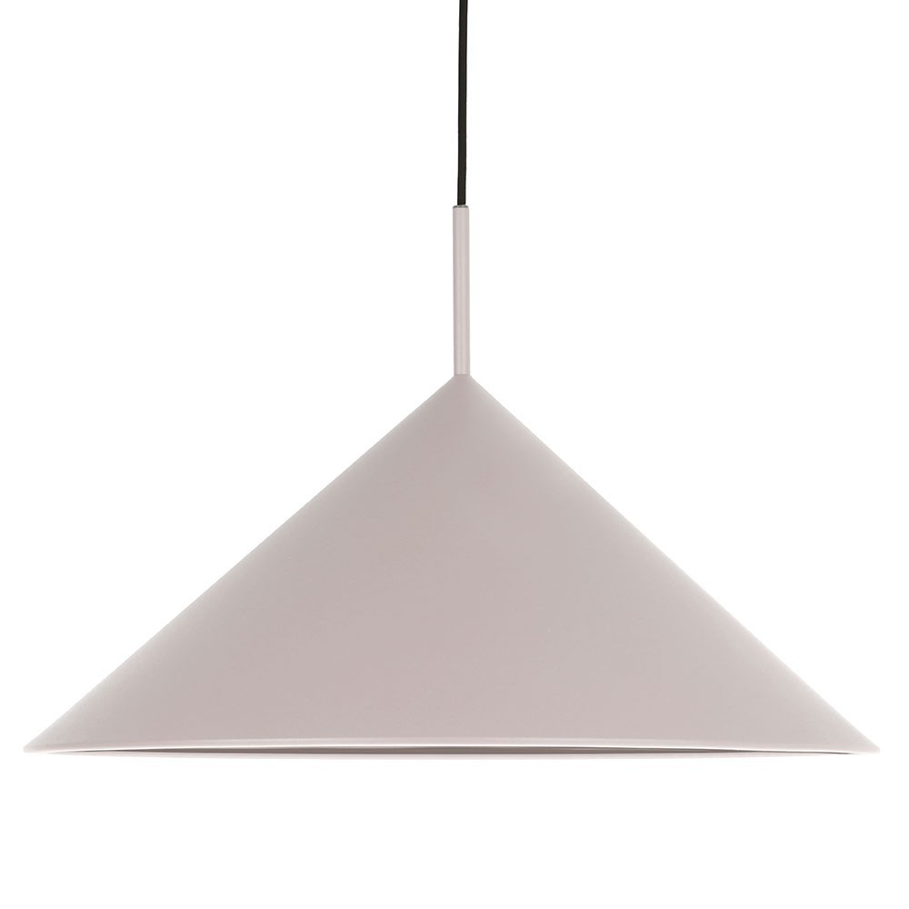 Suspension Triangle en métal gris HKliving