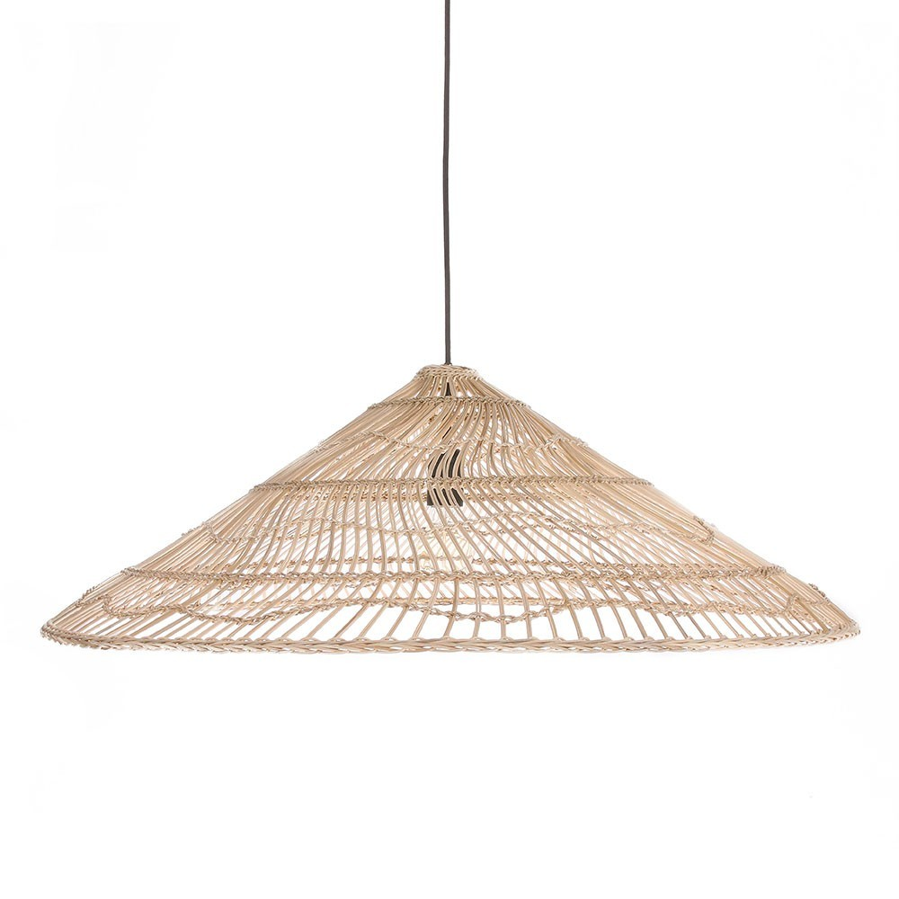 Wicker hanging lamp triangle natural L HKliving