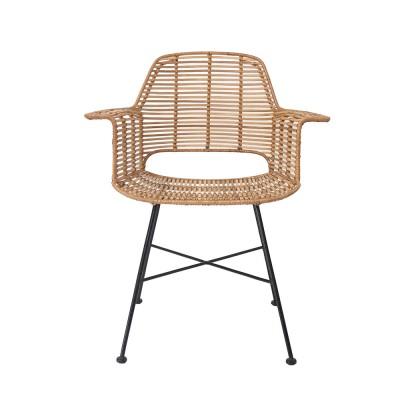 Rattan tub chair natural