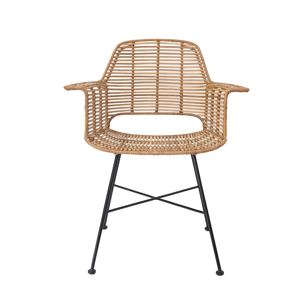 Rattan tub chair natural HKliving