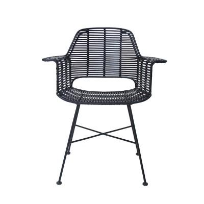Rattan tub chair black HKliving