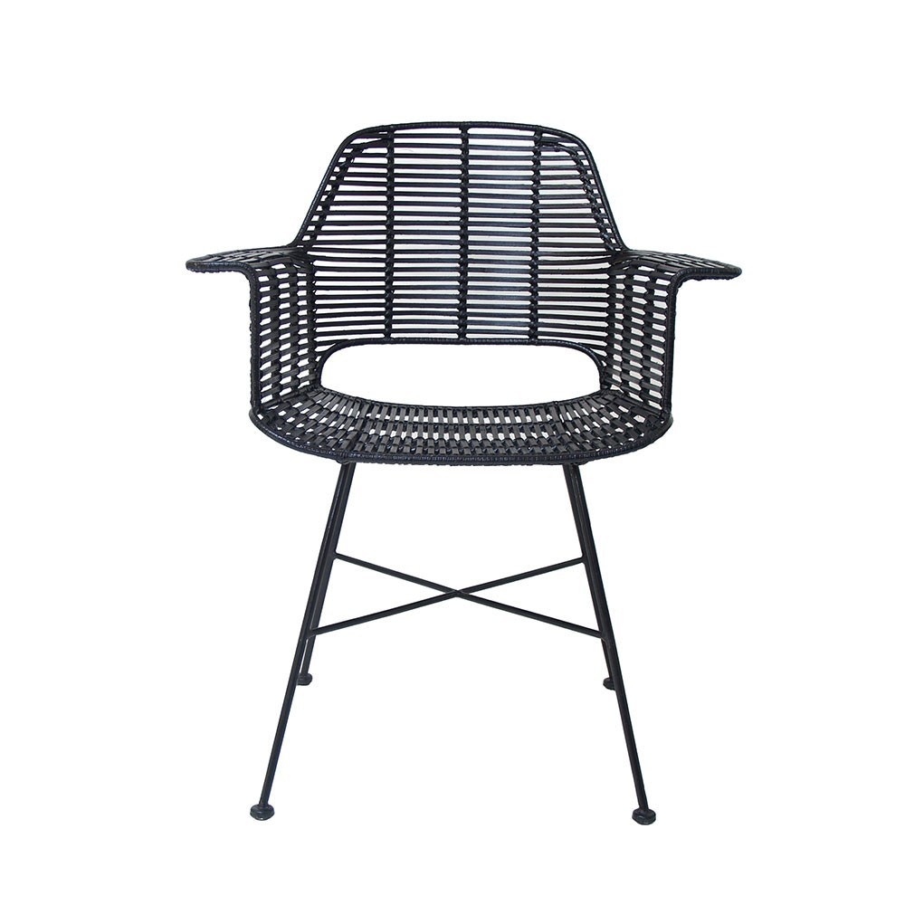 Rattan tub chair black HKliving