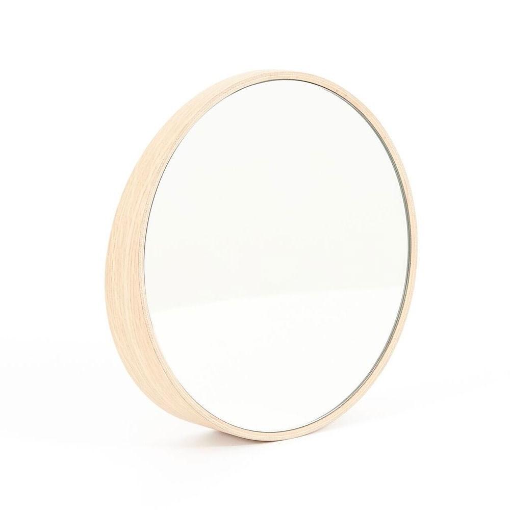 Odilon mirror Ø40 cm natural oak Hartô