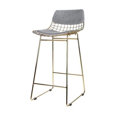 Wire bar stool comfort kit grey HKliving
