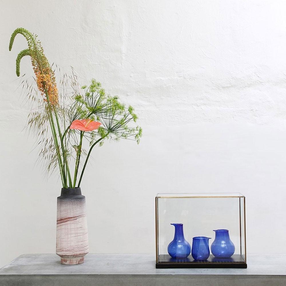 Kobaltblauwe vazen van gerecycled glas (set van 3) HKliving