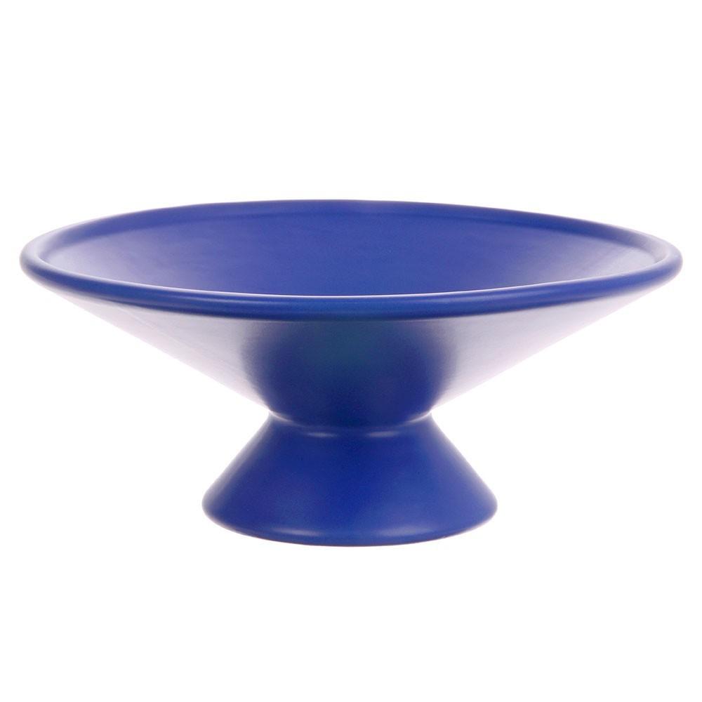 Fruit bowl on base cobalt HKliving