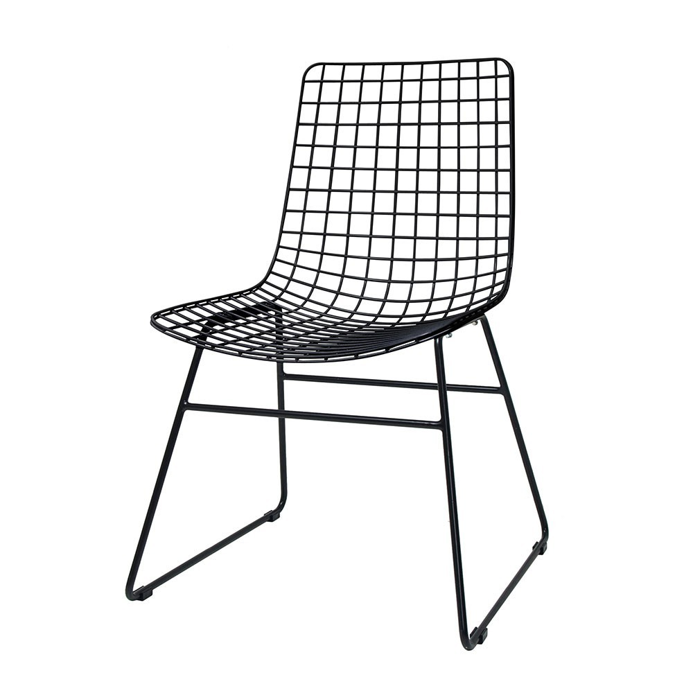 Metal wire chair black HKliving
