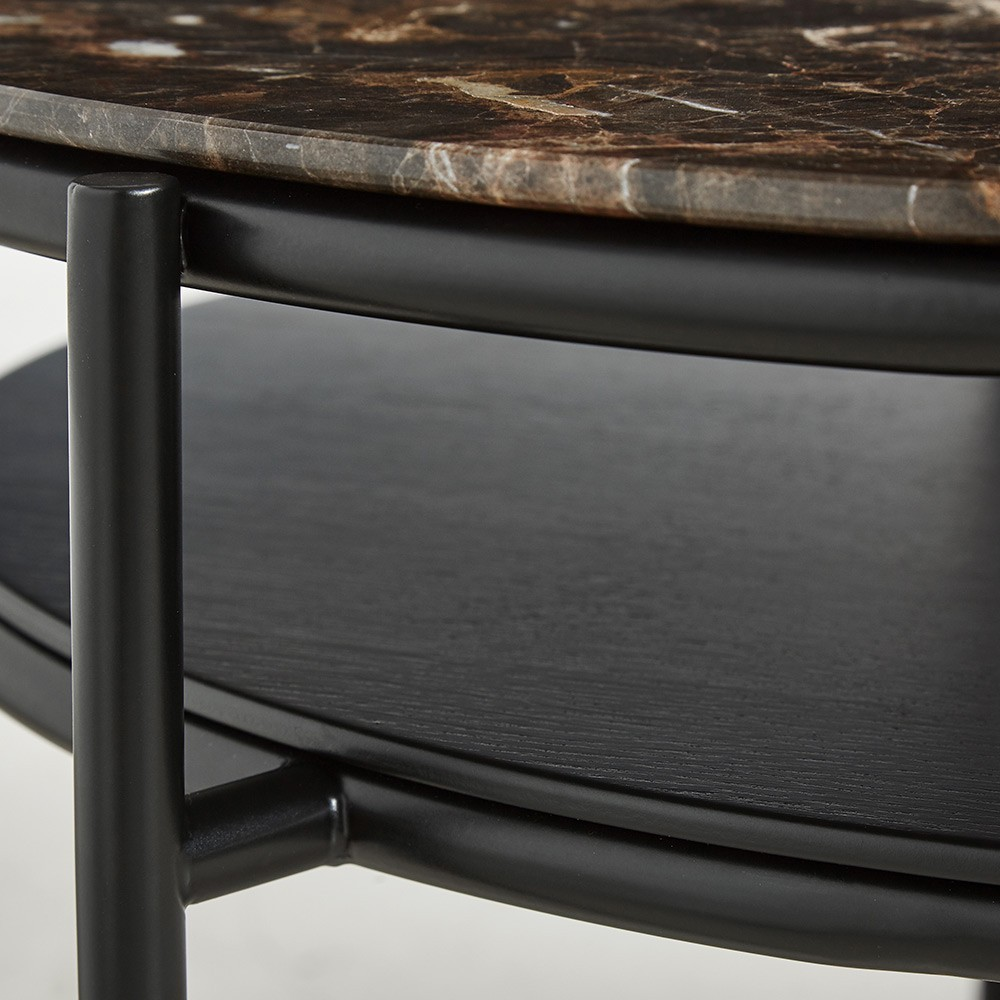 Table basse Verde marbre brun Woud