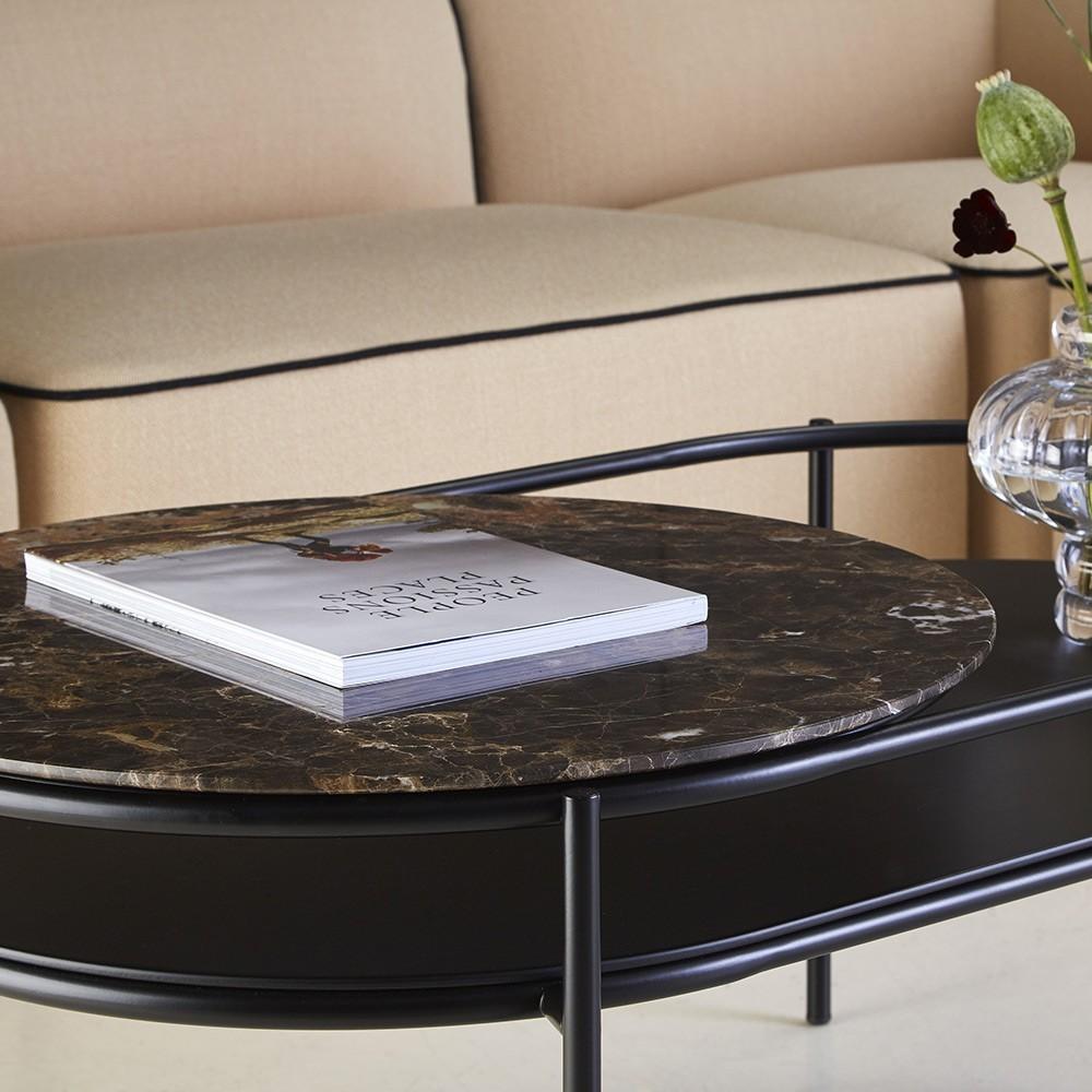 Verde coffee table brown marble Woud