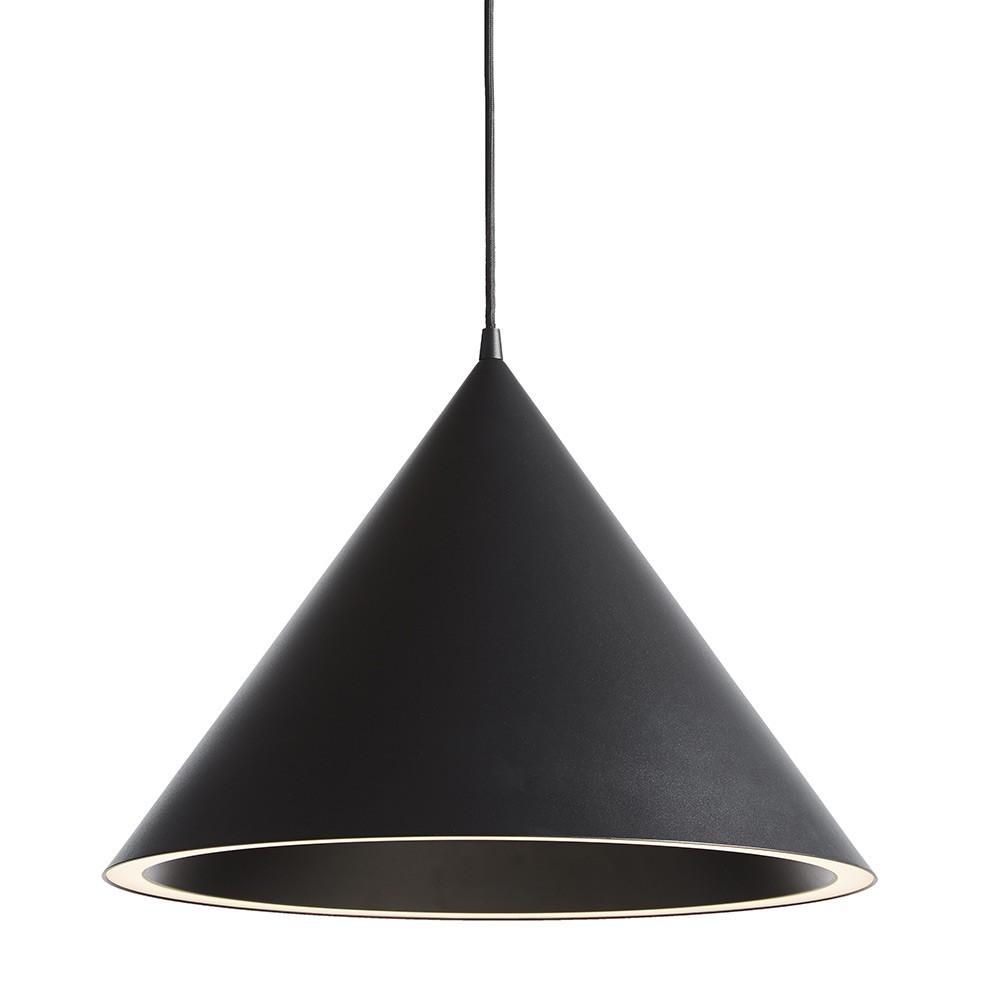 Hanglamp Annular Large zwart Woud