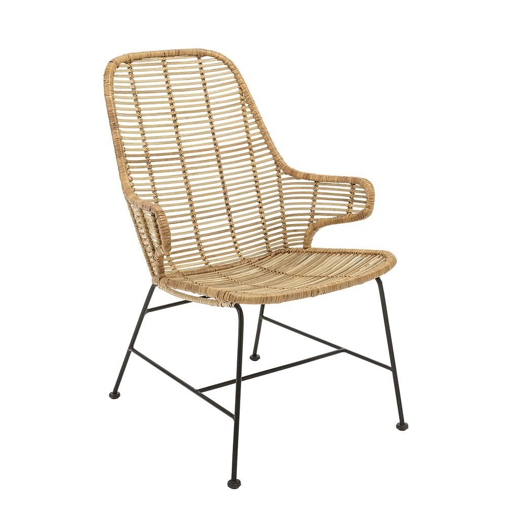 Lake lounge chair natural rattan Bloomingville