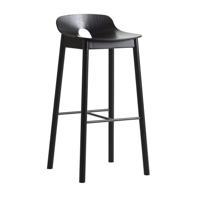 Mono bar stool black Woud