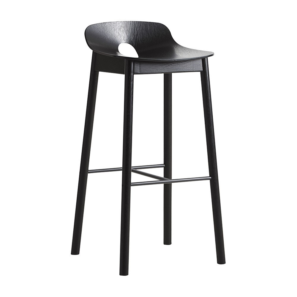 Mono bar stool black Woud