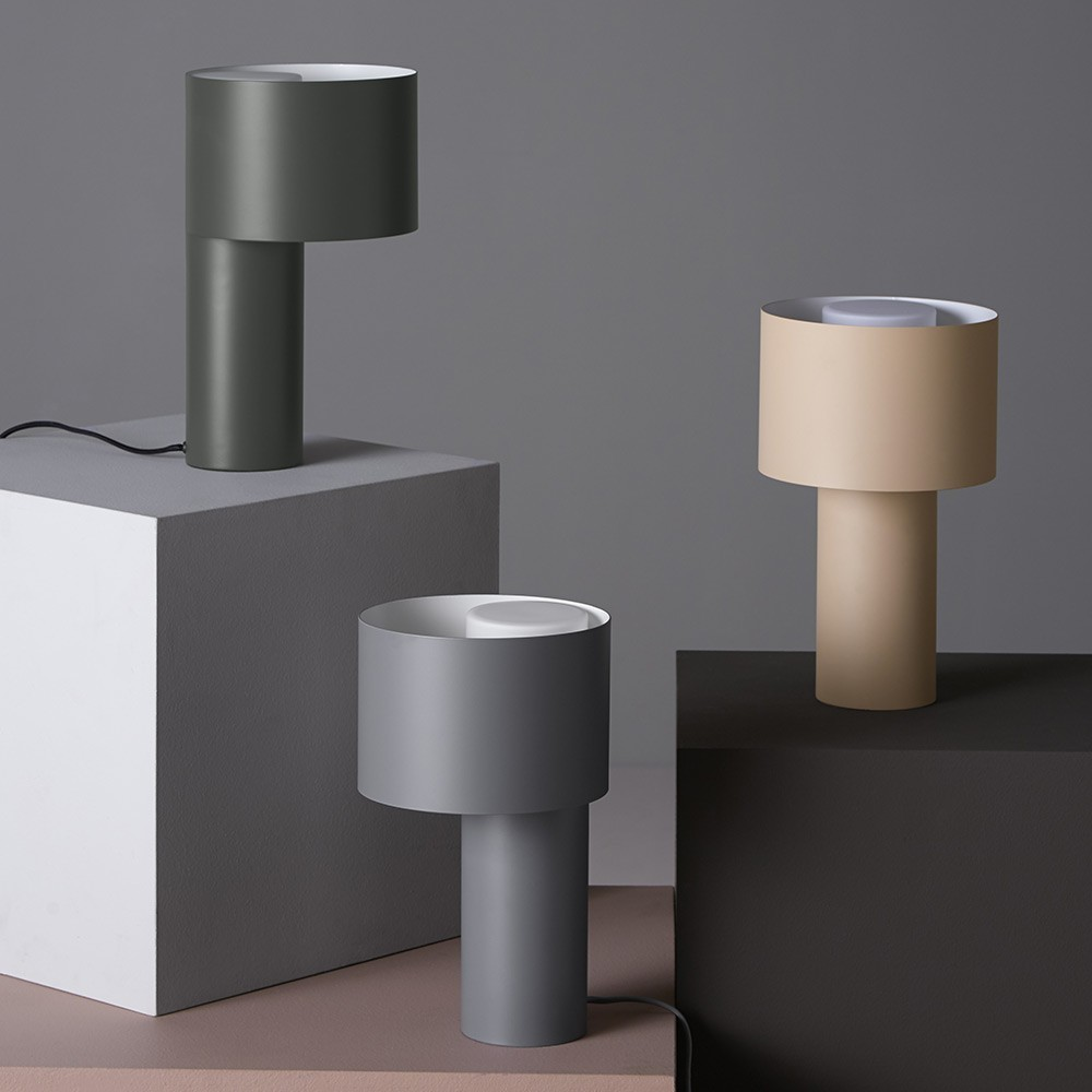 Tangent table lamp cool grey Woud