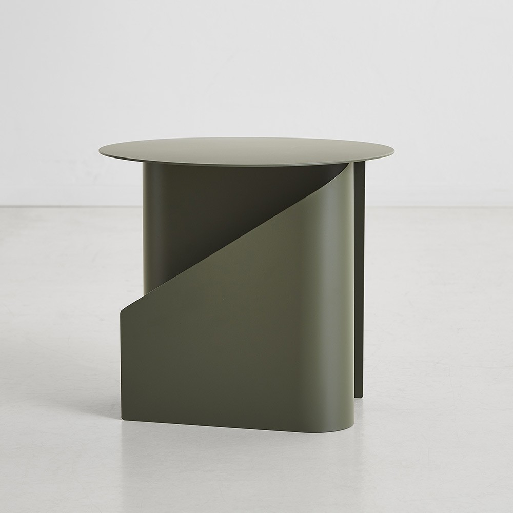 Sentrum side table dusty green Woud