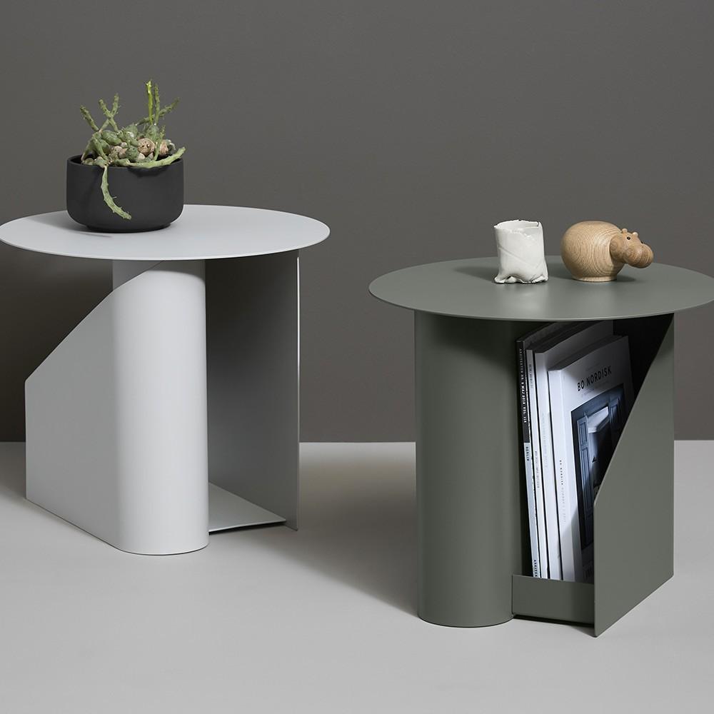 Table d'appoint Sentrum warm grey Woud
