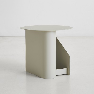 Sentrum side table warm grey Woud