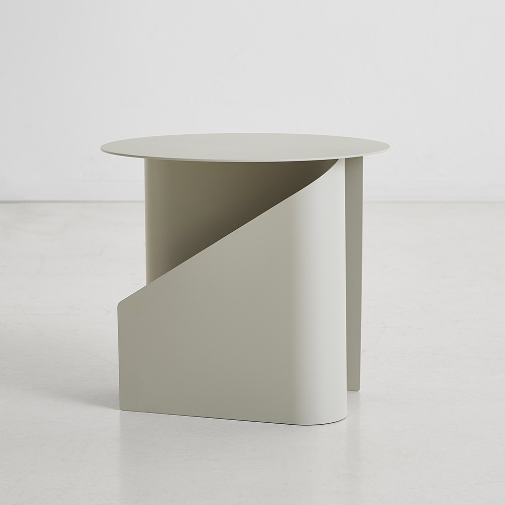 Sentrum side table warm grey Woud
