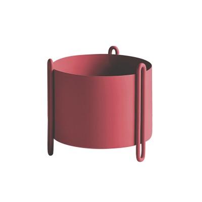 Pidestall flowerpot red S Woud