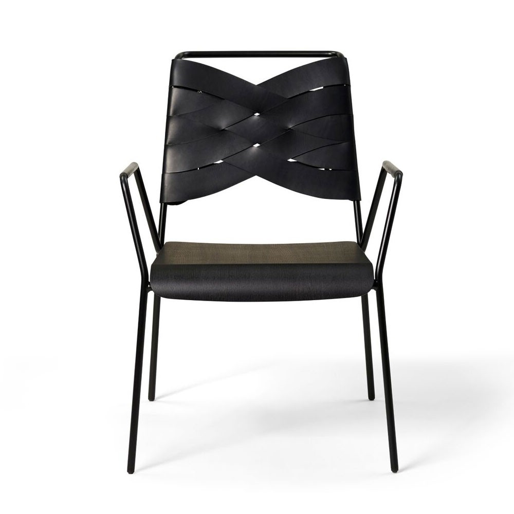 Chaise lounge Torso frêne noir & noir Design House Stockholm
