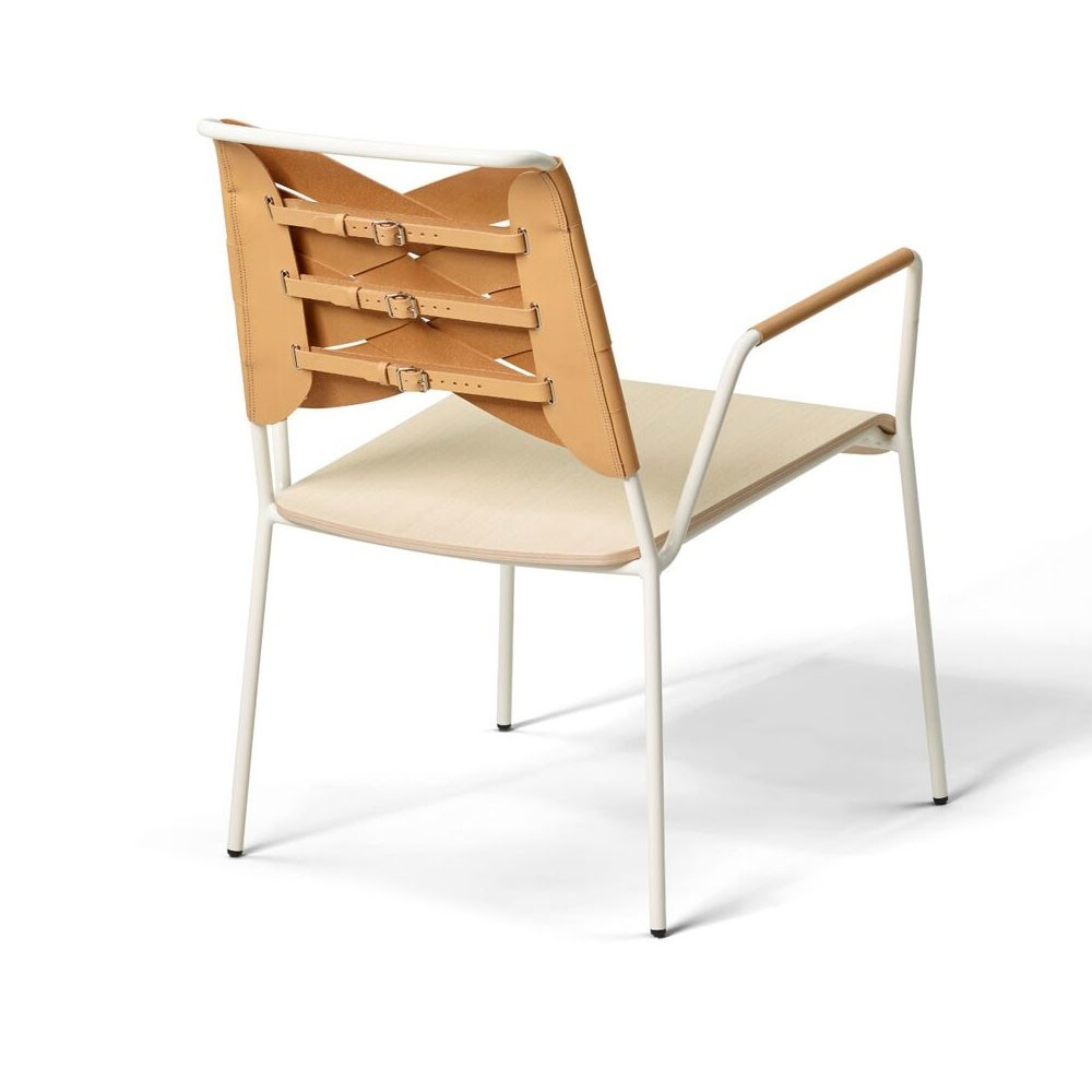 Torso lounge chair ash & natural leather Design House Stockholm