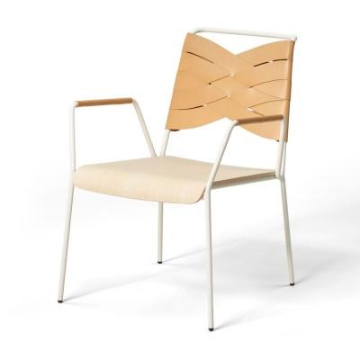 Chaise lounge Torso frêne & cuir naturel Design House Stockholm