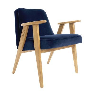 366 Junior fauteuil Indigo fluweel 366 Concept