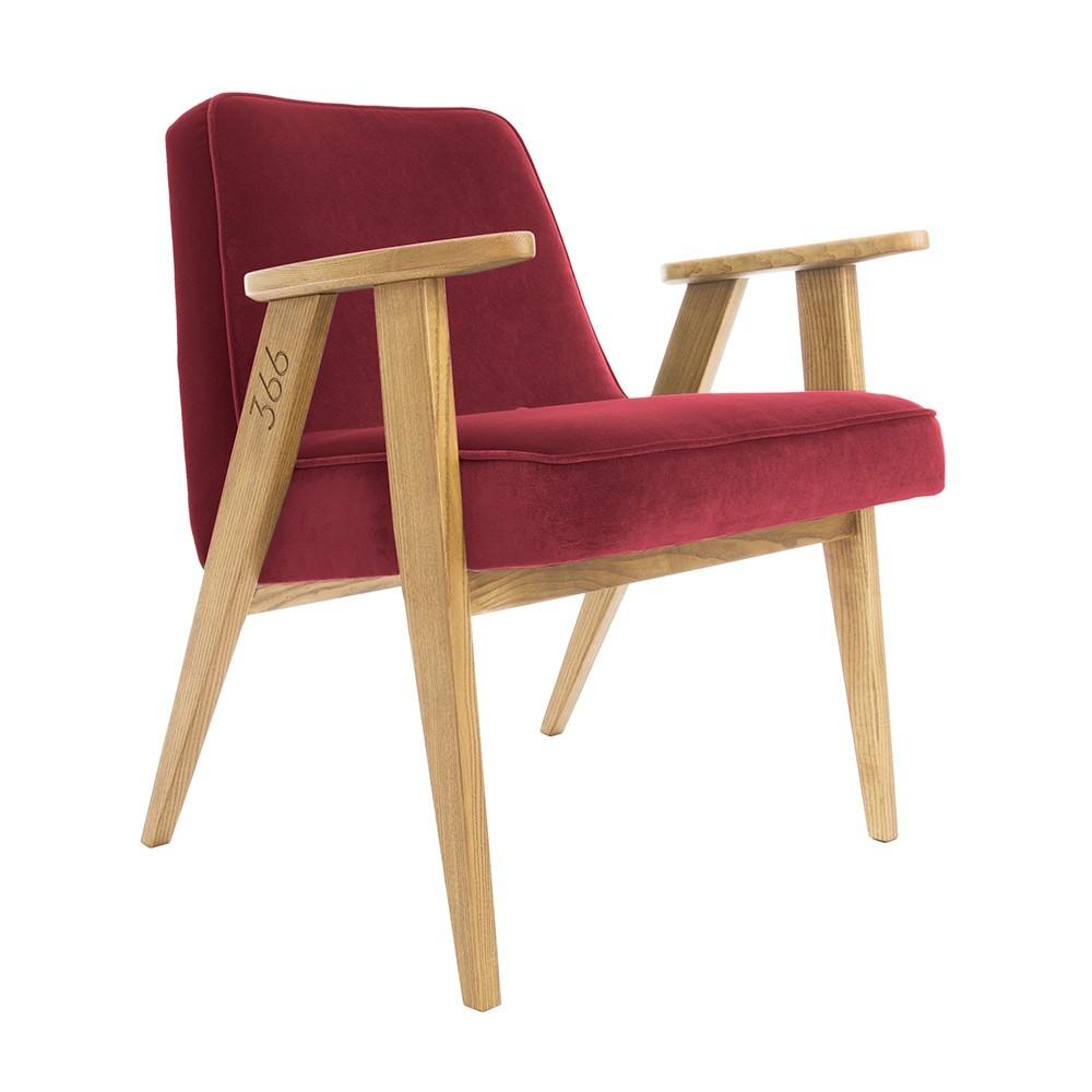 366 Velvet armchair Junior merlot 366 Concept