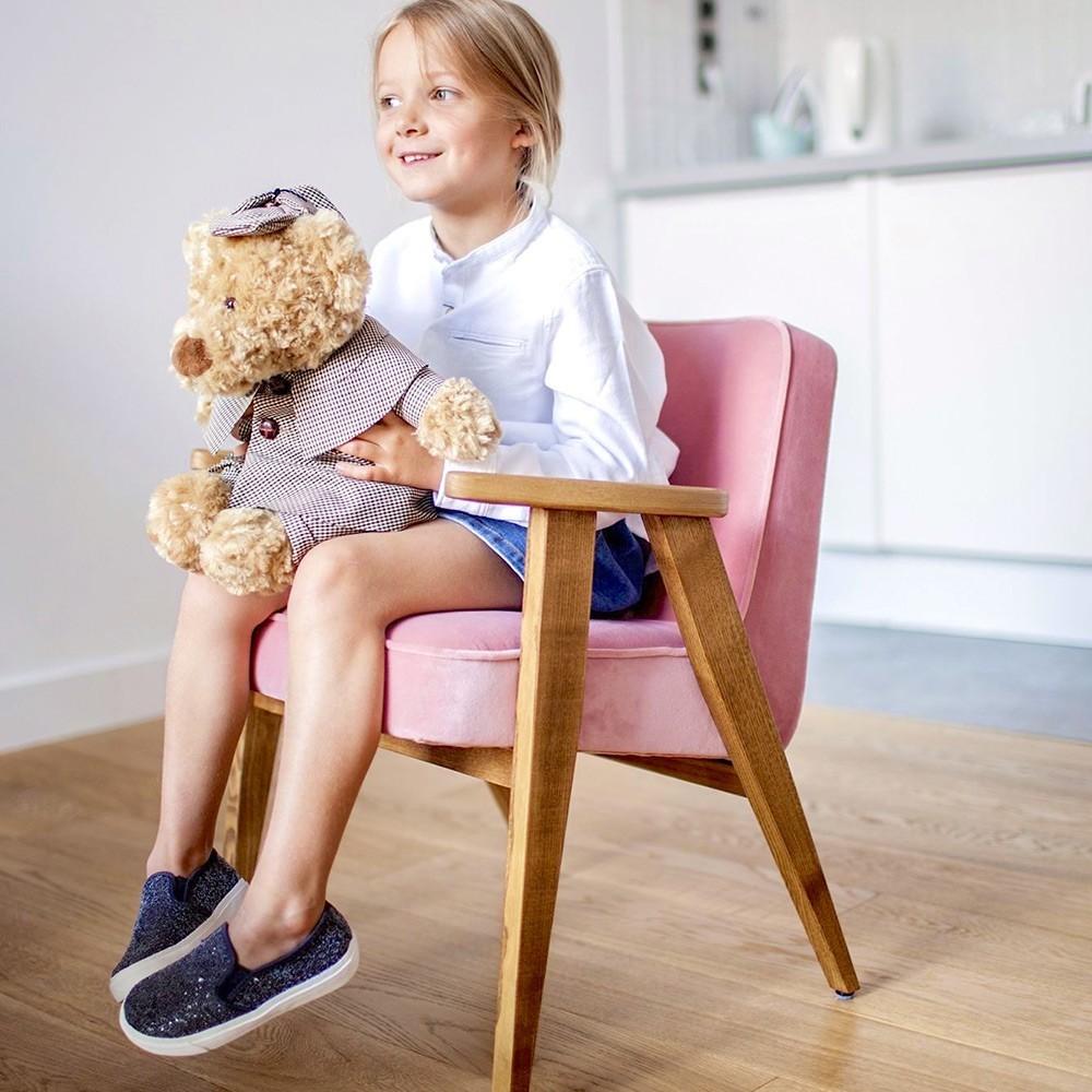 366 Junior Velvet fauteuil merlot 366 Concept