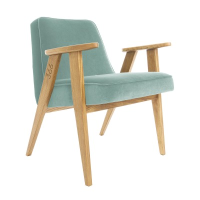 366 Junior Velvet fauteuil mint 366 Concept