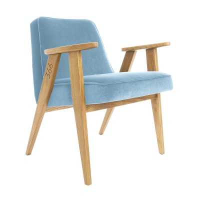 366 Velvet armchair Junior sky blue 366 Concept